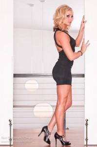 Lindsey in a lil black dress