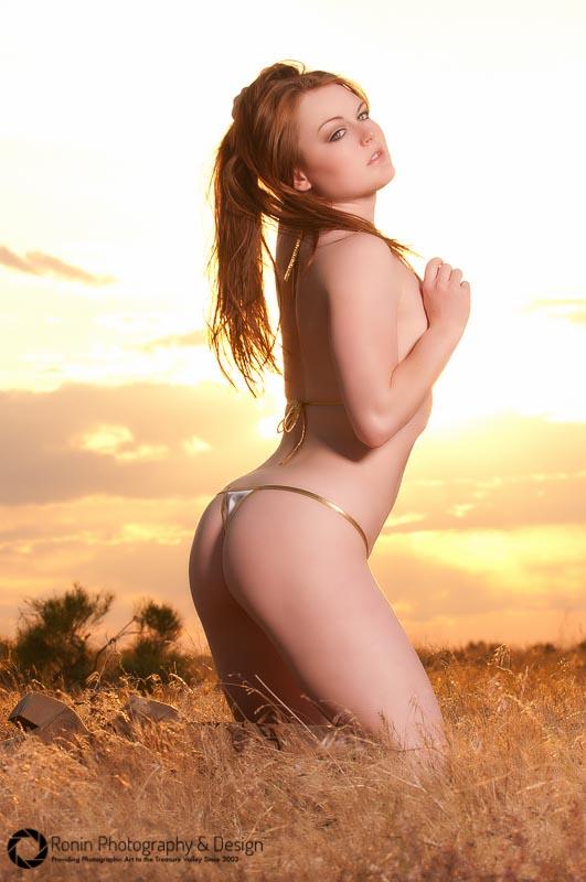 Scarlett - Sizzling under a fiery sky!