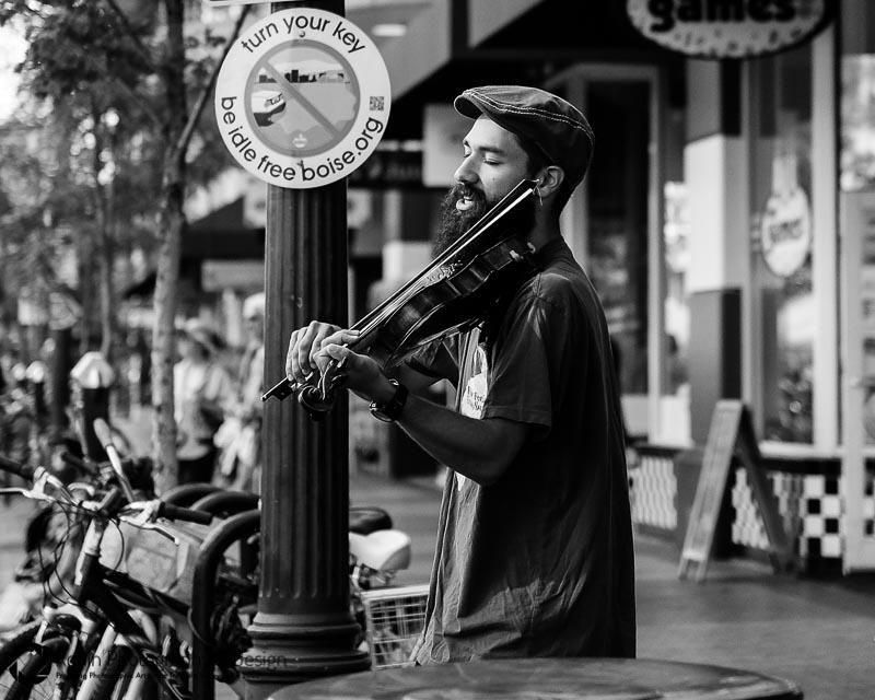 Street musician Capitol City Market